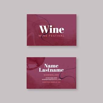 Modelo de cartão de visita de vinho