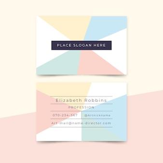 Modelo de cartão de visita - design minimalista