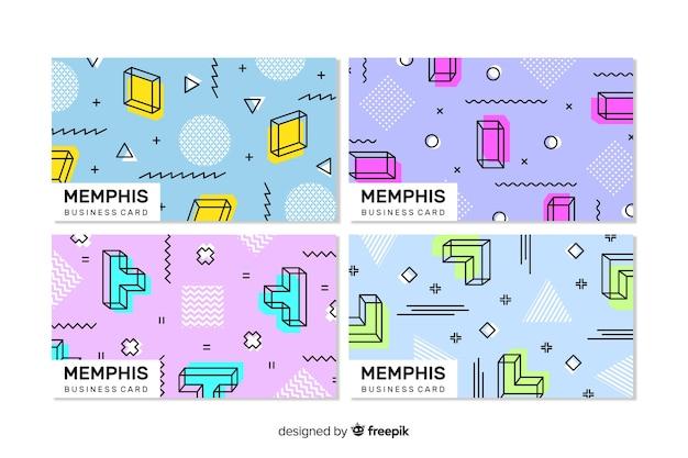 Modelo de cartão de visita do estilo de memphis