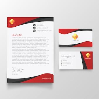 Modelo de cartão-de-visita e cabeçalho