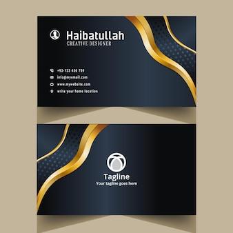 Modelo de cartão de visita e cartão de visita único e criativo