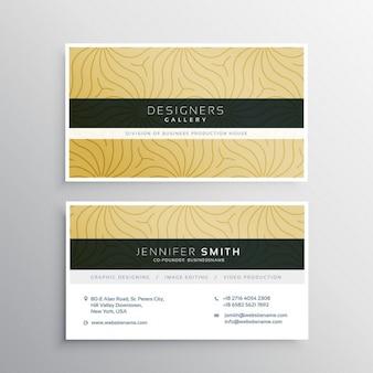 Modelo de cartão de visita elegante com padrão abtract