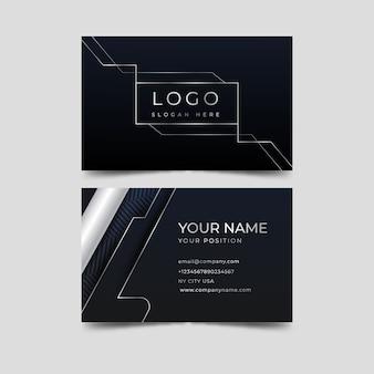 Modelo de cartão de visita elegante de linhas brancas