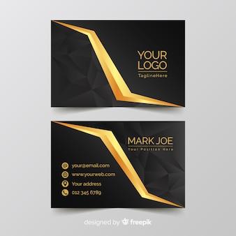 Modelo de cartão de visita elegante dourado