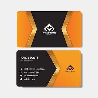 Modelo de cartão de visita elegante laranja