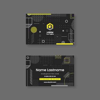 Modelo de cartão de visita eletricista escuro