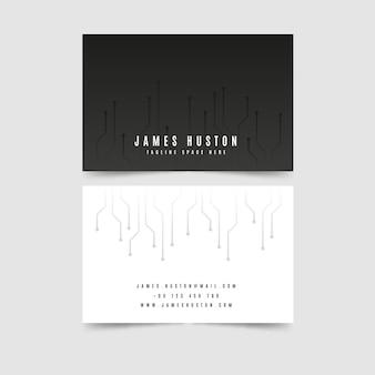 Modelo de cartão de visita em preto e branco