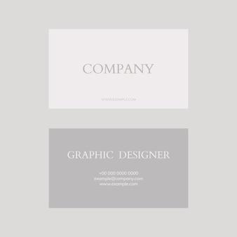 Modelo de cartão de visita em tons de cinza e branco flatlay