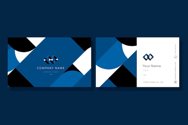 Modelo de cartão-de-visita - estilo abstrato azul