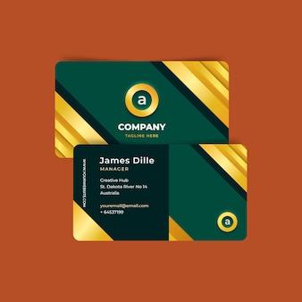 Modelo de cartão de visita estilo dourado