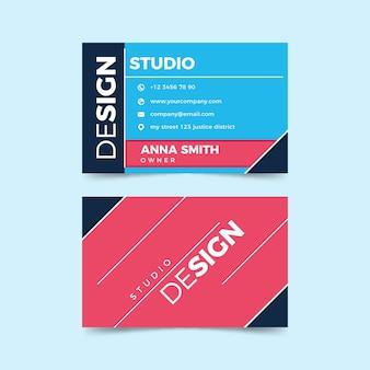 Modelo de cartão de visita - estúdio de design engraçado