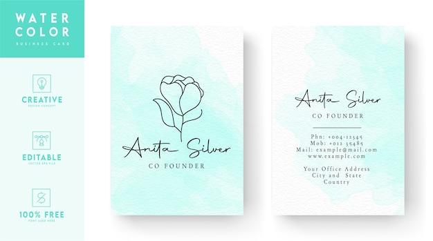 Modelo de cartão de visita floral rosado vetor premium