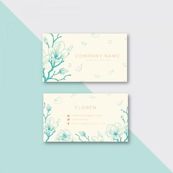 Modelo de cartão-de-visita - floral