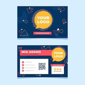 Modelo de cartão de visita frente e verso