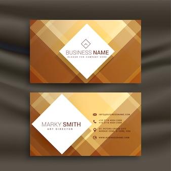 Modelo de cartão de visita geométrico abstrato dourado