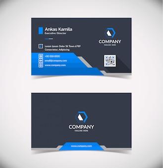 Modelo de cartão-de-visita - geométrico azul elegante