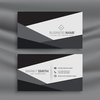 Modelo de cartão de visita geométrico preto e branco