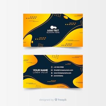 Modelo de cartão de visita gradiente abstrata