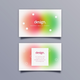 Modelo de cartão de visita gradiente abstrato