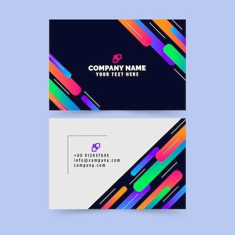 Modelo de cartão de visita gradiente colorido