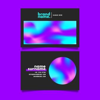 Modelo de cartão de visita gradiente