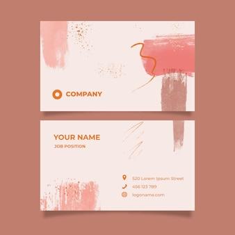 Modelo de cartão de visita horizontal aquarela abstrata