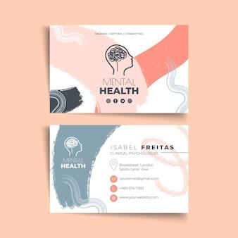Modelo de cartão de visita horizontal de psicologia