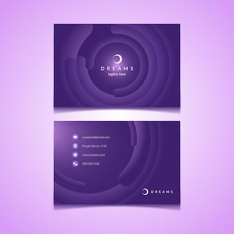 Modelo de cartão de visita horizontal frente e verso
