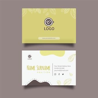 Modelo de cartão de visita horizontal matcha tea