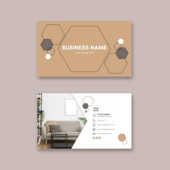 Modelo de cartão de visita horizontal para casas modernas