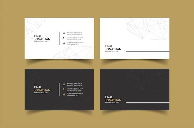 Modelo de cartão de visita ideias para identidade pessoal