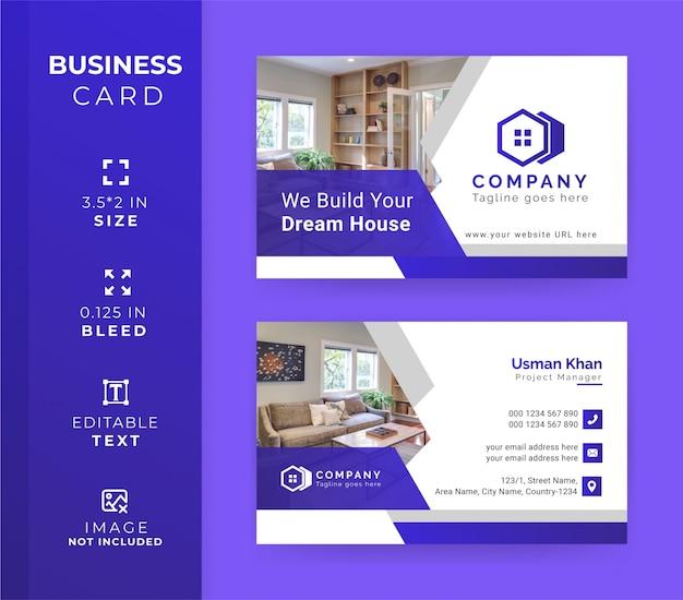 Modelo de cartão-de-visita - imóveis