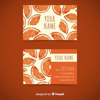 Modelo de cartão de visita laranja aquarela