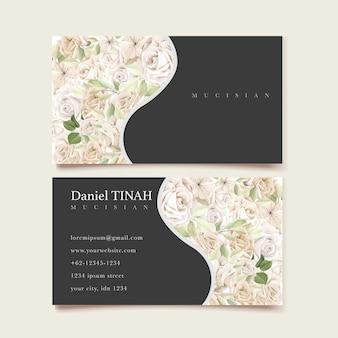 Modelo de cartão de visita lindas rosas