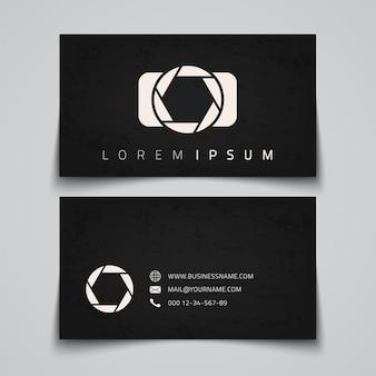 Modelo de cartão de visita. logotipo conceitual da câmera. ilustração