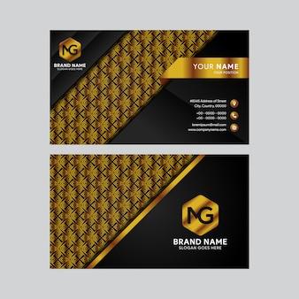 Modelo de cartão de visita - luxo e ouro preto elegante