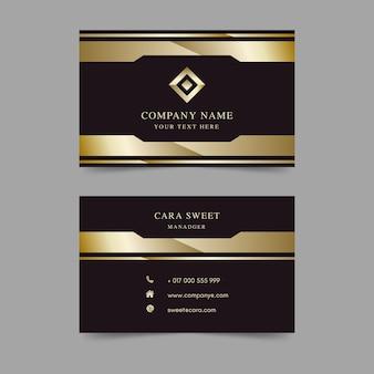 Modelo de cartão de visita luxo