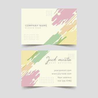Modelo de cartão de visita - manchas de cor pastel