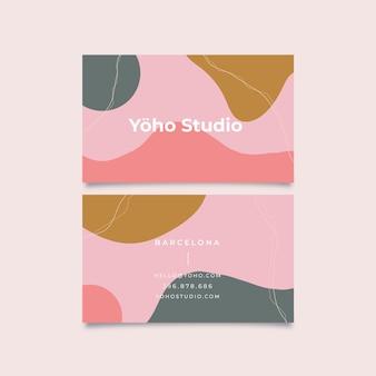 Modelo de cartão-de-visita - manchas pintadas à mão