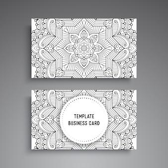 Modelo de cartão-de-visita - mandala ornamental