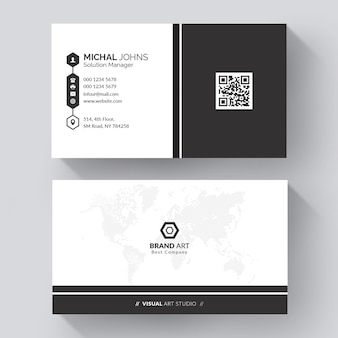 Modelo de cartão de visita minimalista elegante