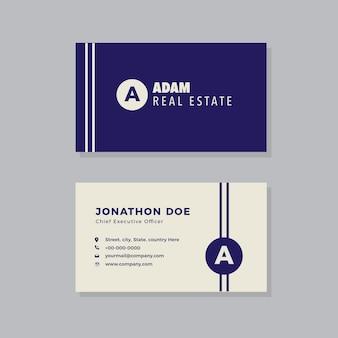 Modelo de cartão de visita minimalista