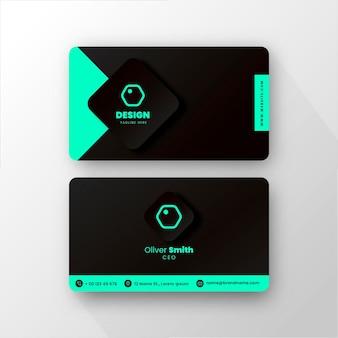 Modelo de cartão de visita mínimo neumorfo