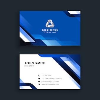 Modelo de cartão de visita moderno abstrato azul