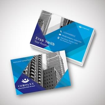 Modelo de cartão de visita moderno com foto