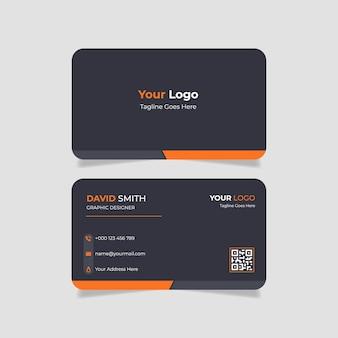 Modelo de cartão de visita moderno cor laranja