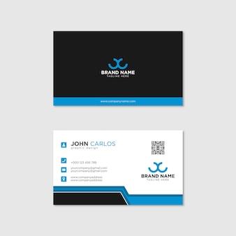 Modelo de cartão de visita moderno, criativo e limpo Vetor Premium