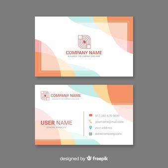 Modelo de cartão de visita moderno criativo