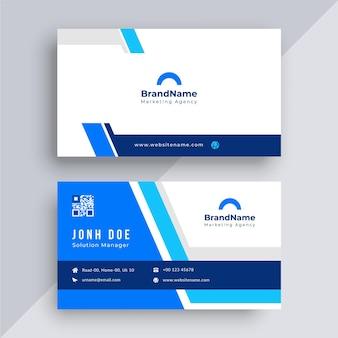 Modelo de cartão de visita moderno criativo Vetor Premium