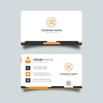 Modelo de cartão de visita moderno e criativo profissional